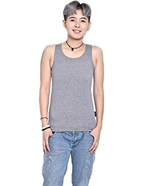 BaronHong Cotton 3 filas de ganchos Chest Binder Tank Top para Tomboy Trans lesbianas