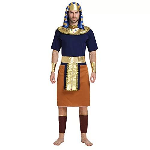 thematys® Faraone Egitto Costume per Uomo - Perfetto per Cosplay, Carnevale e Halloween - Taglia Unica 160-180 cm