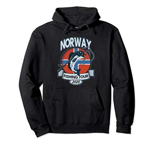Norway Fishing Tour 2020 Angeln Angler Geschenk Norwegen Pullover Hoodie