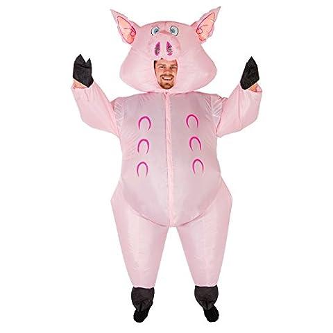 Aufblasbares Schweinekostüm für Erwachsene Bauernhof aufblasbares Kostüm (Halloween Aufblasbare Kostüme)