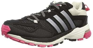 Adidas Supernova Riot 5 Women's Chaussure Course Trial - Noir - Schwarz (Black 1/Metallic Silver/Bahia Pink S14), 44 2/3 EU