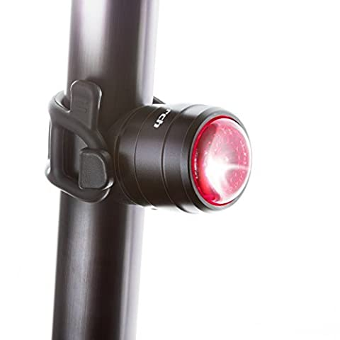 Cycle Torch Light Bolt - USB Rechargeable Bike Tail Light, RED Rear Bicycle Light LED (Black)