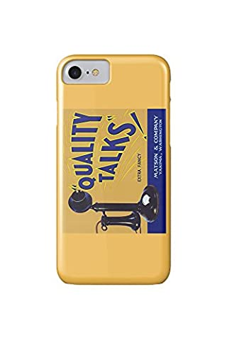 Yakima, Washington - Quality Talks Brand Apple Label (iPhone 7 Cell Phone Case, Slim Barely There)