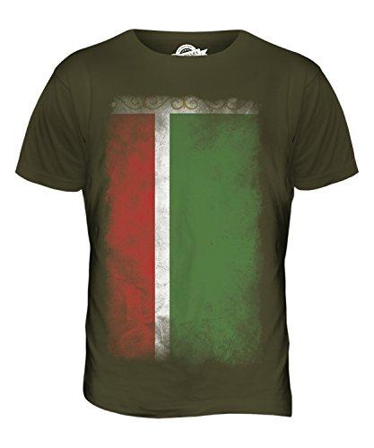 CandyMix Tschetschenien Verblichen Flagge Herren T Shirt Khaki Grün