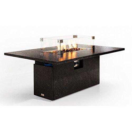 Studio 20 Etna Gartentisch 145 x 90 x 67 cm mit Brenner Granittisch Tischkamin Tischplatte Pearl...