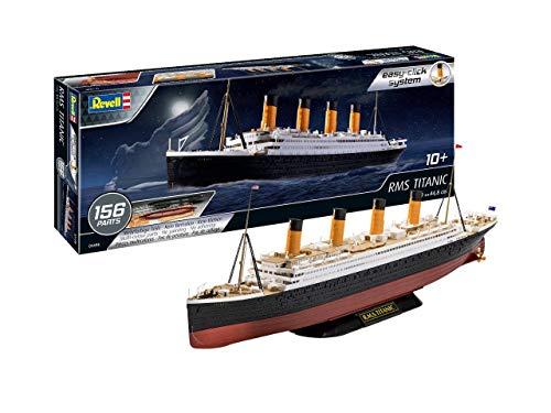 Revell 05498 RMS Titanic, Schiffsbausatz 10 Modellbausatz mit Easy-Click-System, farbige Bauteile, für Einsteiger, Mehrfarbig, 1:600/44,8 cm