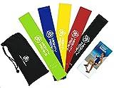 Fitnessbänder 5er-Set mit Tasche Trainingsband Fitness-Band Krafttraining-Widerstandsbänder...