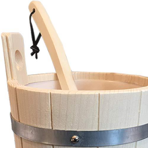Finnline–Cubo para sauna (y paleta en Juego I Top calidad I Top Oferta I Cubo de sauna I Kübel I Cubo I Sauna accesorios I accesorios I Weigand® Wellness I nuevo