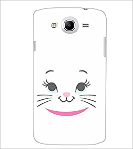 PrintDhaba Kitty Face D-2284 Back Case Cover for SAMSUNG GALAXY MEGA 5.8 (Multi-Coloured)