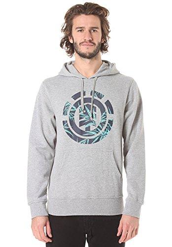 Element Nam Palm Fill Ho felpa con cappuccio garzata grey heather grigio melange hoodie (S)