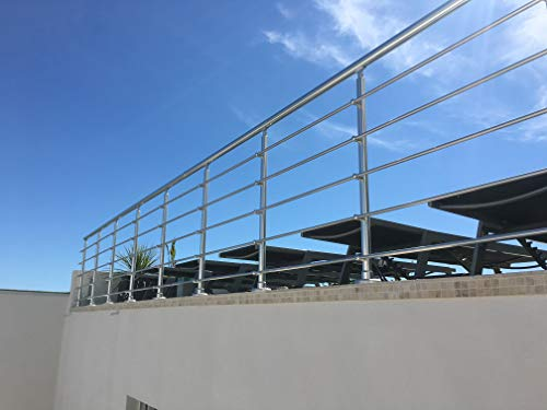 NAO Balustrade Aluminium Garde Corps Kit Fenêtre Escalier Extérieur Intérieur Terrasse
