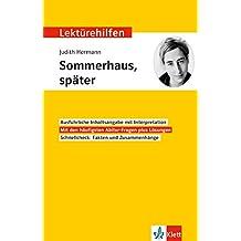 """Lektürehilfen Judith Hermann """"Sommerhaus, später"""": Interpretationshilfe für Oberstufe und Abitur"""