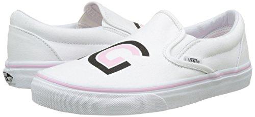 Vans Women's Ua Classic Slip-on Low-top Sneakers, White ((Sayings) True White), 7.5 Uk 41 Eu