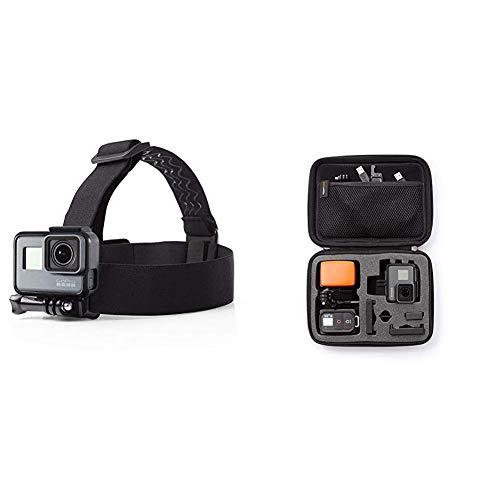 AmazonBasics Tragetasche für GoPro Actionkameras, Gr. S &  Kopfgurt für GoPro Actionkamera Iphone Suite