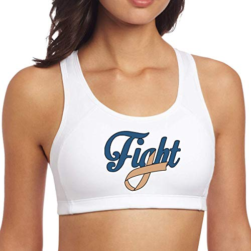 TeMcn_diy Fight Childhood Cancer Awareness Women's Sexy Yoga Bra -