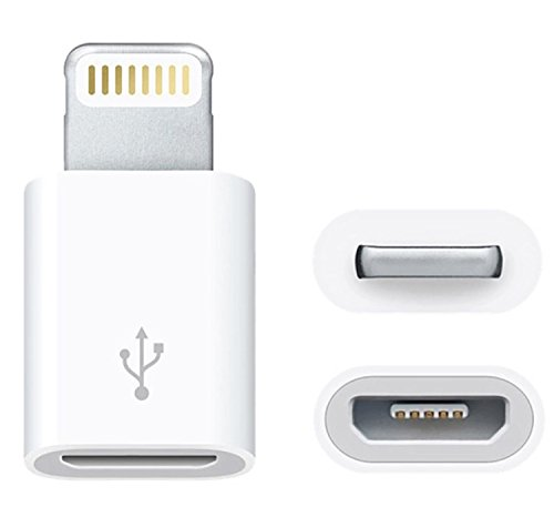 OHA-Tech Lightning auf Micro USB Adapter, Kompatibel mit Apple iPhone, iPad Etc. Connector für Kamera, Stecker, Microusb, Dock, Dockingstation