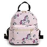 JameStyle26 Einhorn Unicorn Hochwertiger Kinderrucksack Stern Star Kindergarten Rucksack Jugend Schultasche Teenie Backpack Junge & Mädchen (Rosa)