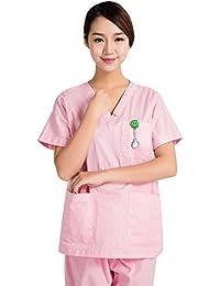 LSHEL-Divisa ospedaliera,estetica,Infermiere, Casacca e Pantalone, Personale alberchiero, Personale Medico,operatore Sanitario,operatore Scolastico