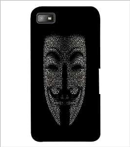 PrintDhaba Typographic Vendetta D-3755 Back Case Cover for BLACKBERRY Z10 (Multi-Coloured)