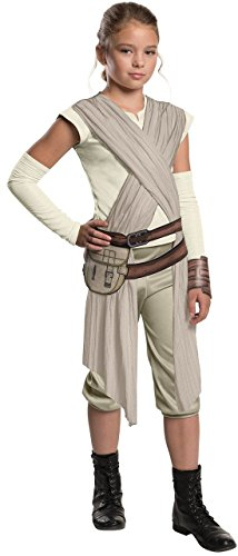 Child Deluxe Star Wars The Force Awakens Rey Fancy dress costume Medium (Rey Star Wars The Force Awakens Kostüm)