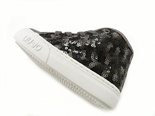 LIU-JO GIRL Schuh hohe Schnürsenkel Reißverschluss Pailletten weiblich grau Grau