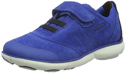 Geox J Nebula A, Baskets Basses Garçon Blau (ROYAL/BLACKC0042)