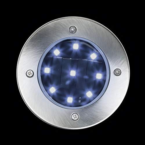 TianranRT Solar LED Outdoor Weg Licht Spot Lampe Hof Garten Rasen Landschaft Wasserdicht (Weiß)