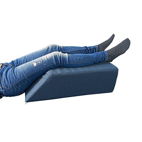 tempracell Orthopädisches Beinhochlagerungskissen, Venenkissen, Beinruhekissen bei muskulär bedingten Wadenschmerzen - besonders schön im Design vital - 70 x 50 x 20 cm - Farbe: Blau