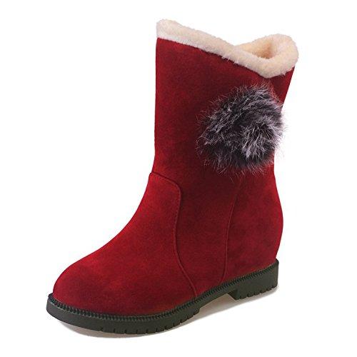 FLYRCX Inverno e inverno con spesse caldo di velluto e antiscivolo Stivali Stivali con racchette da neve C