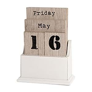 ewiger kalender dauerkalender tischkalender holz. Black Bedroom Furniture Sets. Home Design Ideas