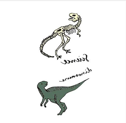 ruofengpuzi Tattoo AufkleberErwachsene Tätowierung Wasserdicht Tattoo Sticker Body Art Dinosaurier und Seine Knochen Fake Tattoo Man Woman -