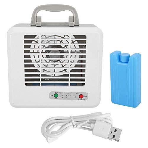 Ventilador de Aire Acondicionado Portátil, 3 Ventiladores de Enfriamiento de Agua Usb de Enfriamiento...