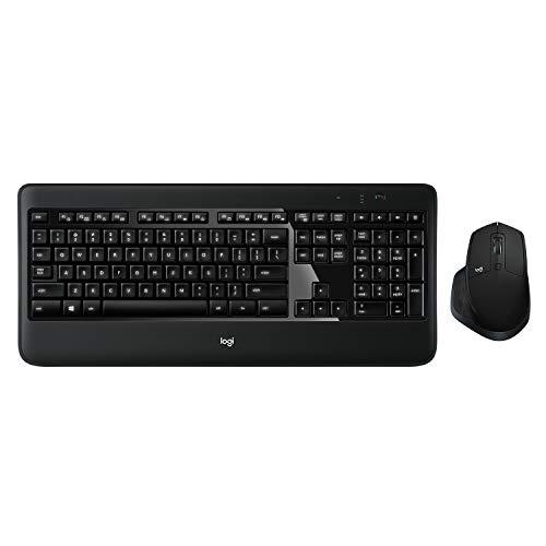 Logitech MX900 Combo kabellose Tastatur und Maus (USB, Bluetooth (für Windows, Mac OS), QWERTZ Deutsches Tastaturlayout) schwarz