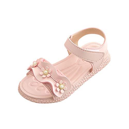 SEWORLD Baby Schuhe Kinder Mädchen Kleinkind Wellen Blumen Prinzessin Turnschuhe Einzelnen rutschfeste Babyschuhe Segeltuchschuhe Freizeitschuhe Sommerschuhe Tanzschuhe(Rosa,27 EU)