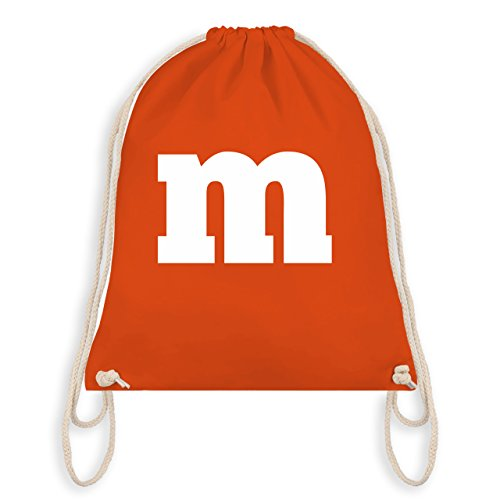 Karneval & Fasching - Gruppen-Kostüm m Aufdruck - Unisize - Orange - WM110 - Turnbeutel & Gym Bag