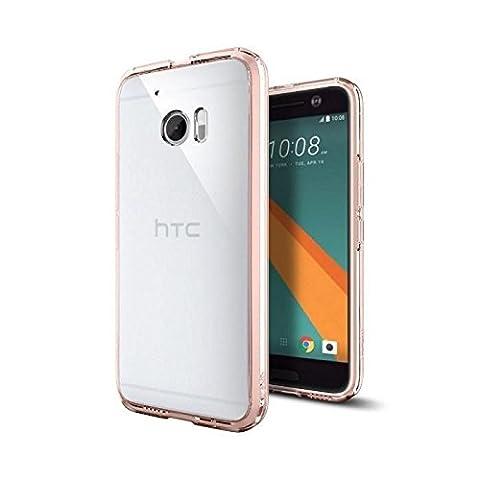 Coque HTC 10, Spigen [Ultra Hybrid] TPU transparent [Rose Crystal] Cadre PC, Souple, Technologie coussin d'air, Coque bumper HTC 10 2016 (H09CS20278)
