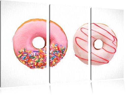 lustrate-donuts-bunstift-effetto-immagine-canvas-3-pc-120x80-immagine-sulla-tela-xxl-enormi-immagini