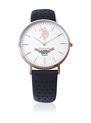 US Polo Association Reloj Analógico para Hombre de Cuarzo con Correa en Cuero USP3005RG