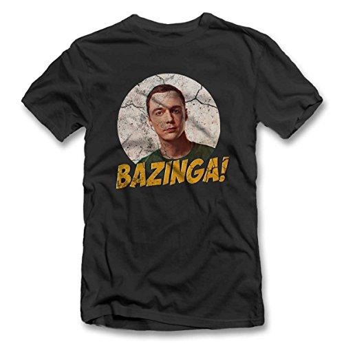 Bazinga 02 Vintage T-Shirt S-XXL 12 Farben / Colours Grau