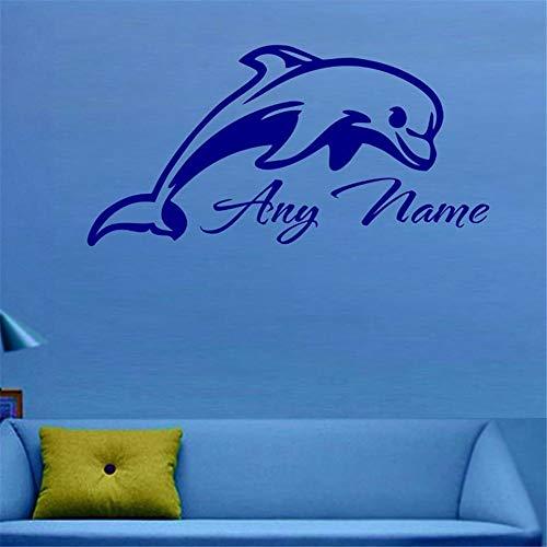 Wandtattoo Wohnzimmer Wandtattoo Schlafzimmer Personalisierter Delphin irgendein Name fertigte Geschenk für Wohnzimmer-Kinderzimmer-Kinderschlafzimmer besonders an