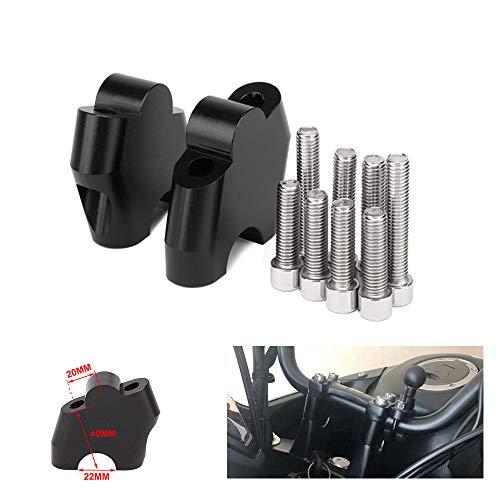 Preisvergleich Produktbild JFG RACING Motorrad Lenker Riser Bar Risers Clamp bewegt Bar Extend Adapter - 40mm angehoben - für NC700S / X NC750X CB500X das ganze Jahr - schwarz