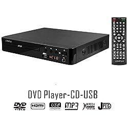 LP-099 Reproductor de DVD (Full HD, HDMI, USB, Multi Region Code Zone Gratis) compatible con DIVX, JPEG y MP3