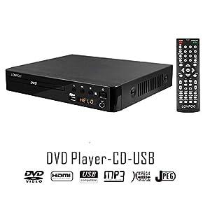 dvd: LP-099 Reproductor de DVD (Full HD, HDMI, USB, Multi Region Code Zone Gratis) co...