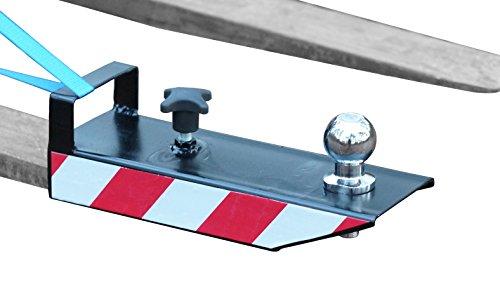 IB_KL Rangierhilfe für Gabelstapler Anhänger Stapler Kugelkopf Radlader Wohnwagen Gabeln maximal 110x50 Farbe Schwarz