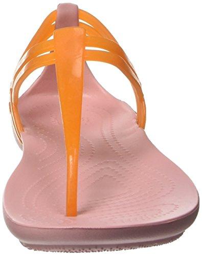 Crocs Isabellatstrap, Ciabatte Donna Arancio (Active Orange/Petal Pink)