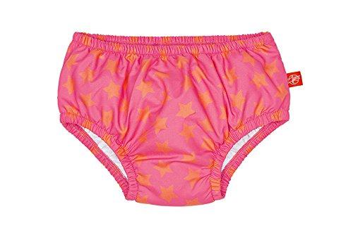 LÄSSIG Baby Schwimmwindel Badewindel wiederverwendbar waschbar Auslaufschutz Junge Mädchen UV-Schutz 50+/Splash & Fun Baby Swim Diaper, Stars, 18 Monate, rosa