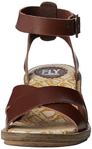 Fly London - Cera634fly, Scarpe col tacco con cinturino a T Donna Marrone (Braun (BROWN 001))