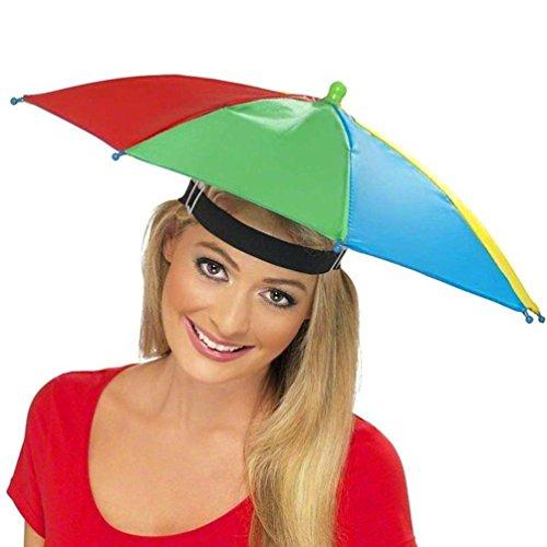 URSING Draussen Faltbar Sonnenschirm Hut Kopfbedeckung Kappe Kopf Hut Regenschirm Hut Neuheit nach Kostüm Hut Ladies Mens Multi Color Festival hat für Golf Angeln Camping Outdoor - Baseball Mini Kostüm