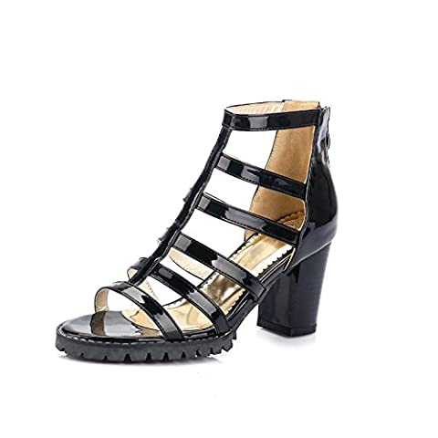 Femmes Peep Toe High Heel Salsa Tango Ballroom Latin Monk Strap Dance Sandals Party Evening Wedding Bridal , black ,