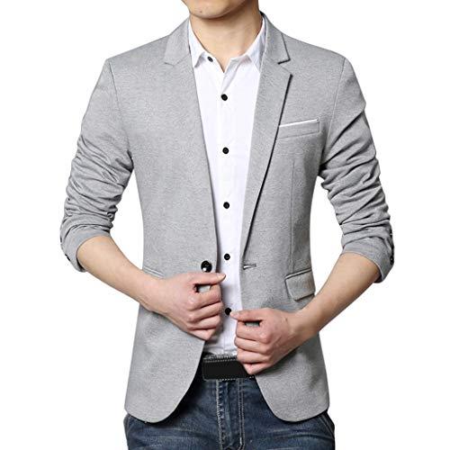 WHSHINE Herren Anzugjacke Männer Sakko Blazer Einfarbig Geschäft beiläufiger Cardigan Strickjacket Men's Herbst Slim Fit Outwear Party Smokingjacken